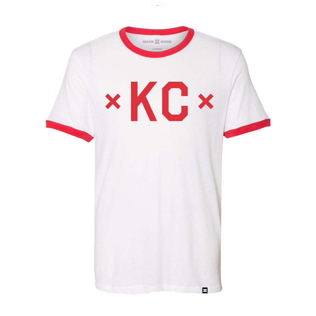 Signature KC Ringer - White/Red