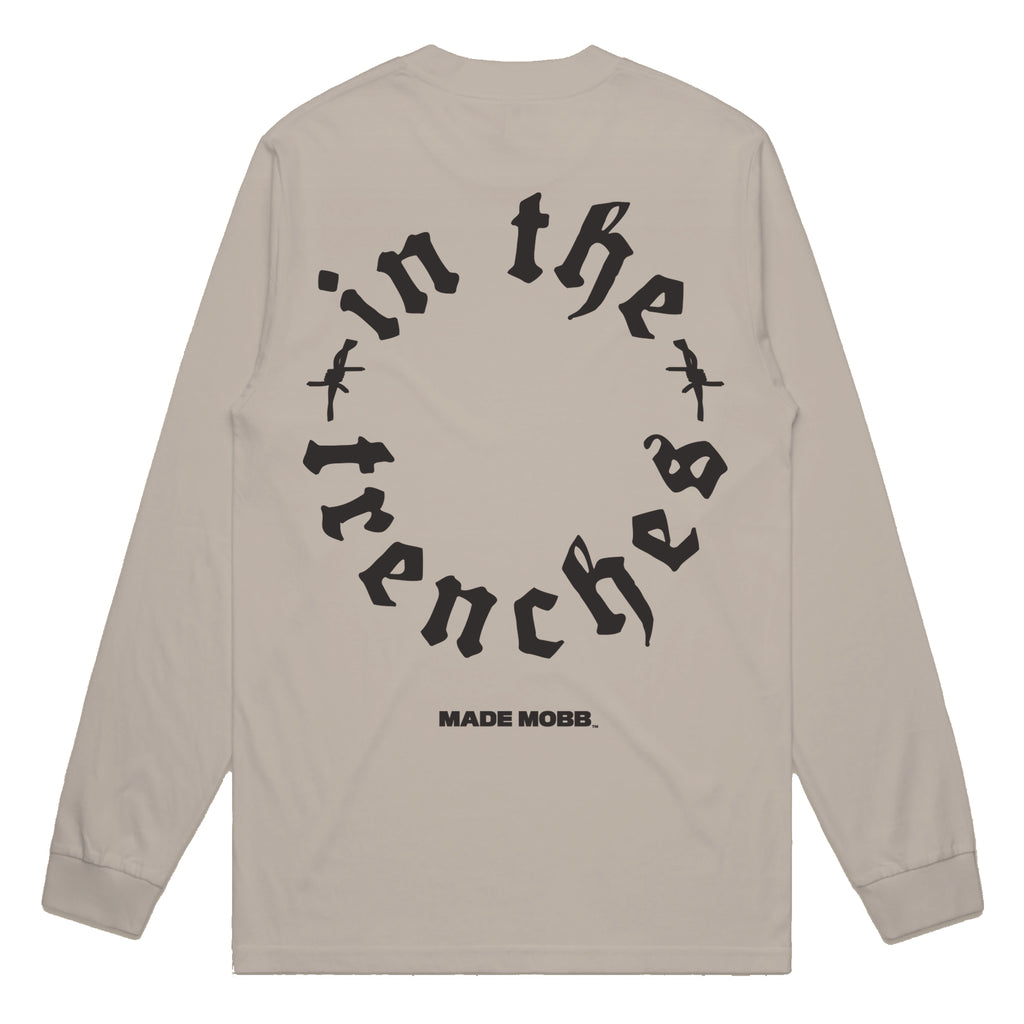 TRENCHES LS Tee - Tan - Online Only