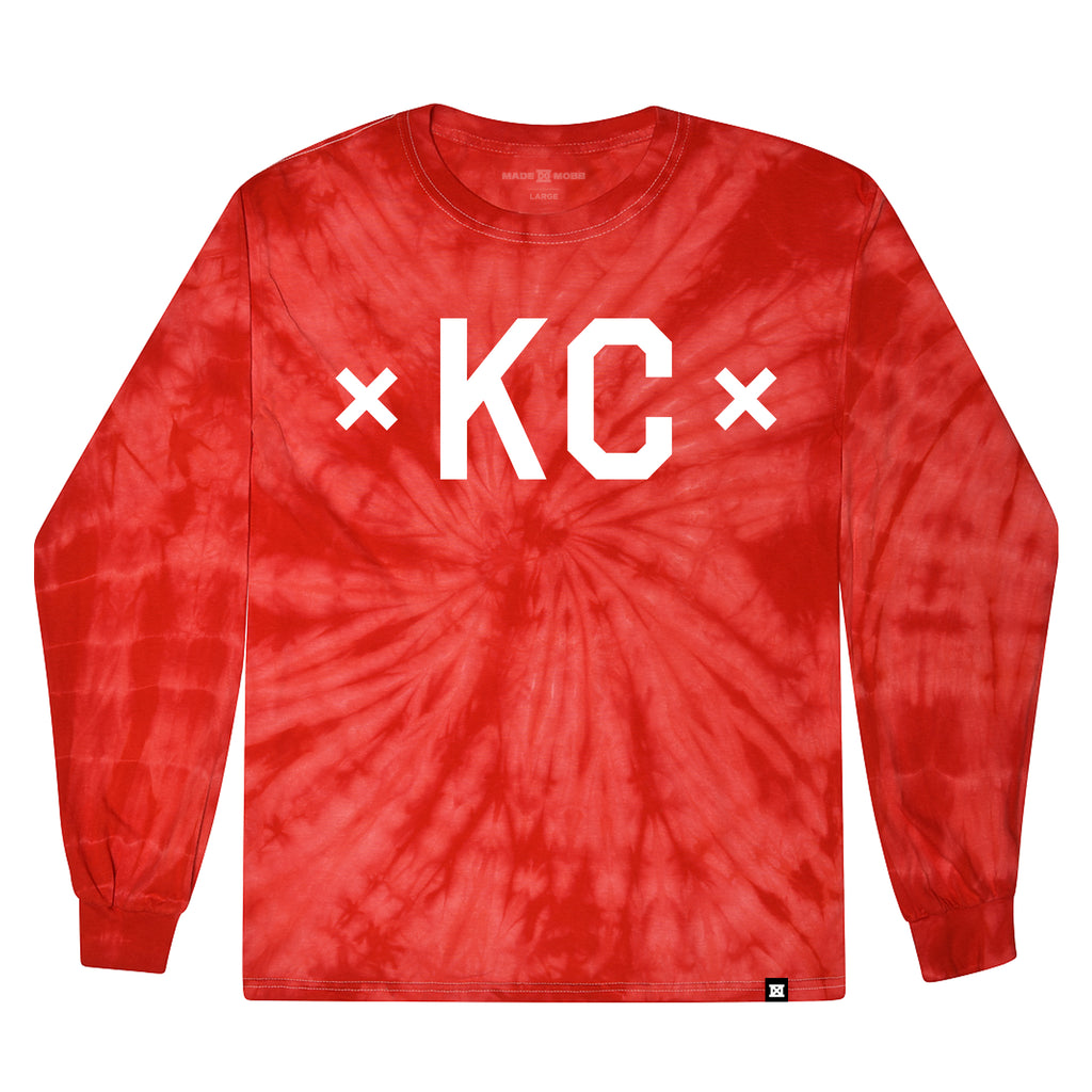 TIE DYE - Signature KC - Red Long Sleeve