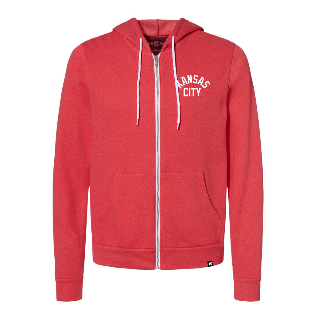 Sig KC Zip-Up Hoodie - Heather Red