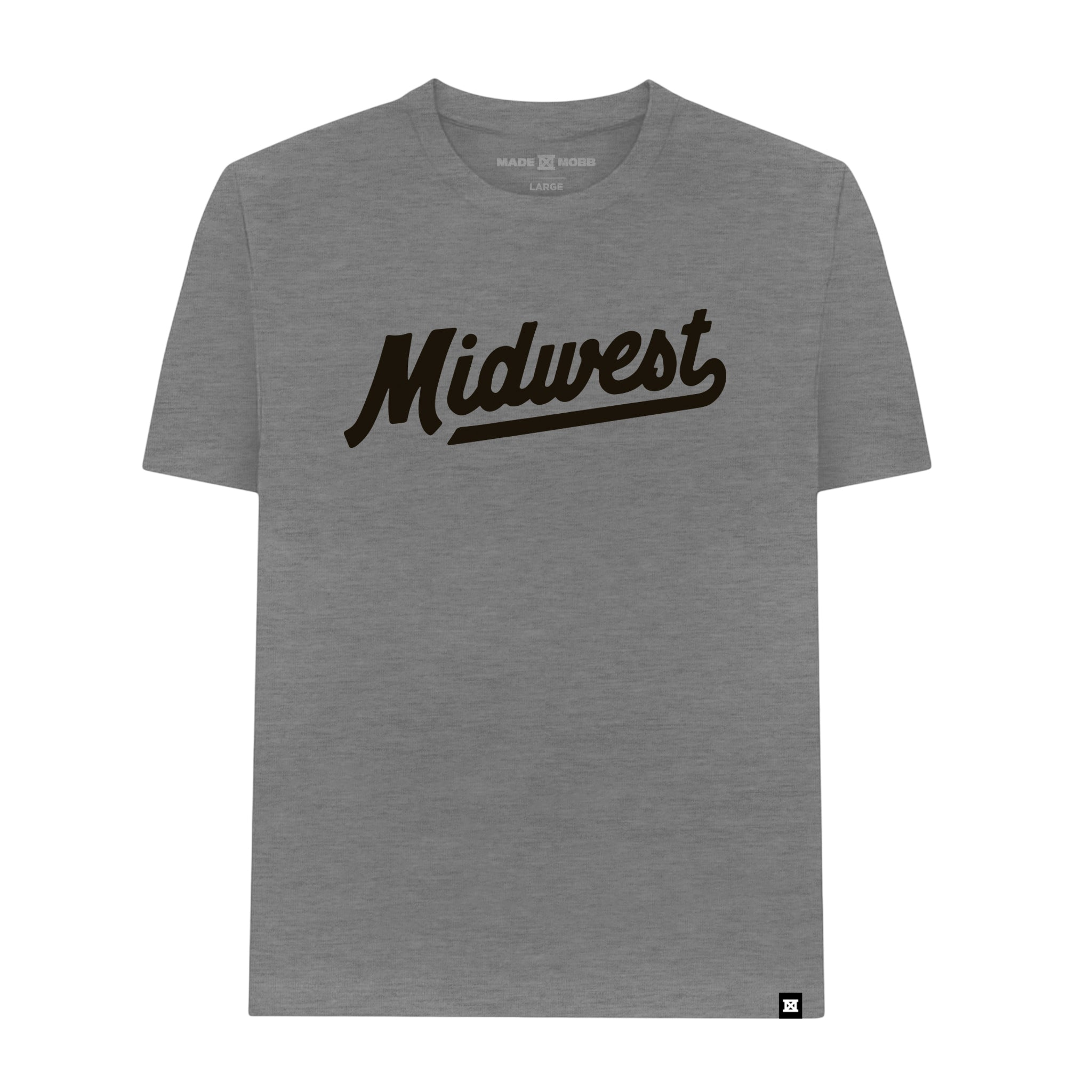 MIDWEST Script T-Shirt - Deep Heather