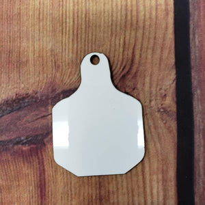 "2.5"" Sqaured Cow Tag Sublimation Blank 