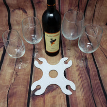 Load image into Gallery viewer, Wine Glass Holder 4 Glasses