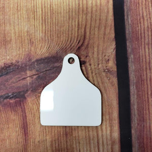 "2.5"" Rounded Cow Tag Sublimation Blank 