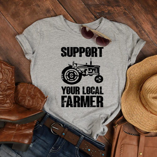 Support your Local Farmer Screen Print Transfer