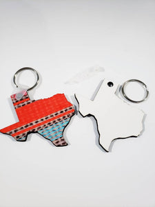 Texas Sublimation Blank | Key Chain | Key Ring | Sublimation