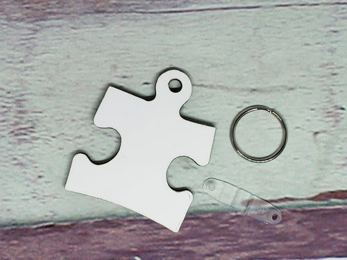 Puzzle Piece Sublimation Blank | Key Chain | Key Ring | Sublimation