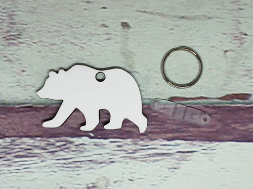 Bear Sublimation Blank | Key Chain | Key Ring Sublimation