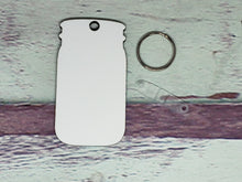 Load image into Gallery viewer, Mason Jar Sublimation Blank | Key Chain | Key Ring Sublimation
