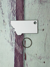 Load image into Gallery viewer, Montana Sublimation Blank | Key Chain | Key Ring Sublimation