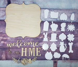 Interchangeable Home Sign Sublimation Blank | Home SIgn | Interchangeable |  Sublimation Blank