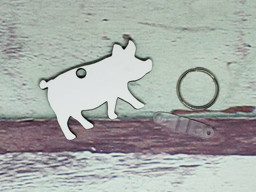 Pig Sublimation Blank | Key Chain | Key Ring Sublimation