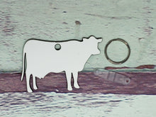 Load image into Gallery viewer, Cow Heifer with Udders Sublimation Blank | Key Chain | Key Ring Sublimation
