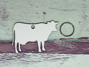 Cow Heifer with Udders Sublimation Blank | Key Chain | Key Ring Sublimation