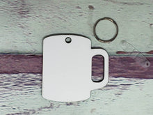 Load image into Gallery viewer, Coffee Cup Sublimation Blank | Key Chain | Key Ring Sublimation