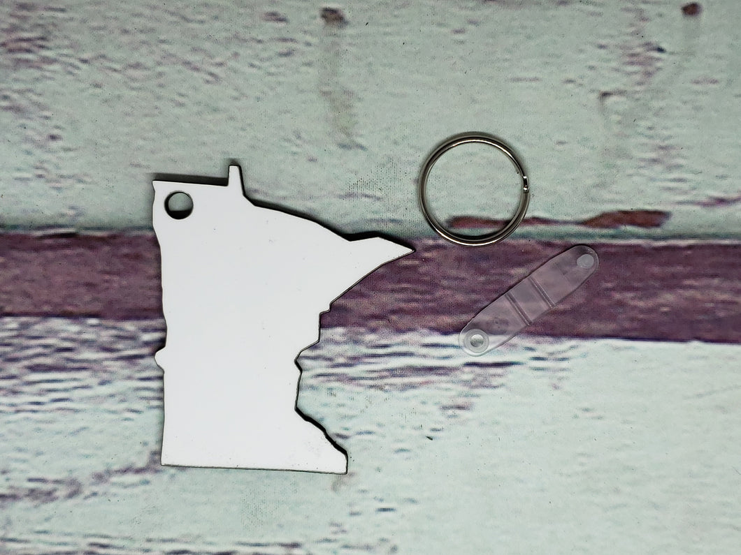 Minnesota Sublimation Blank | Key Chain | Key Ring Sublimation