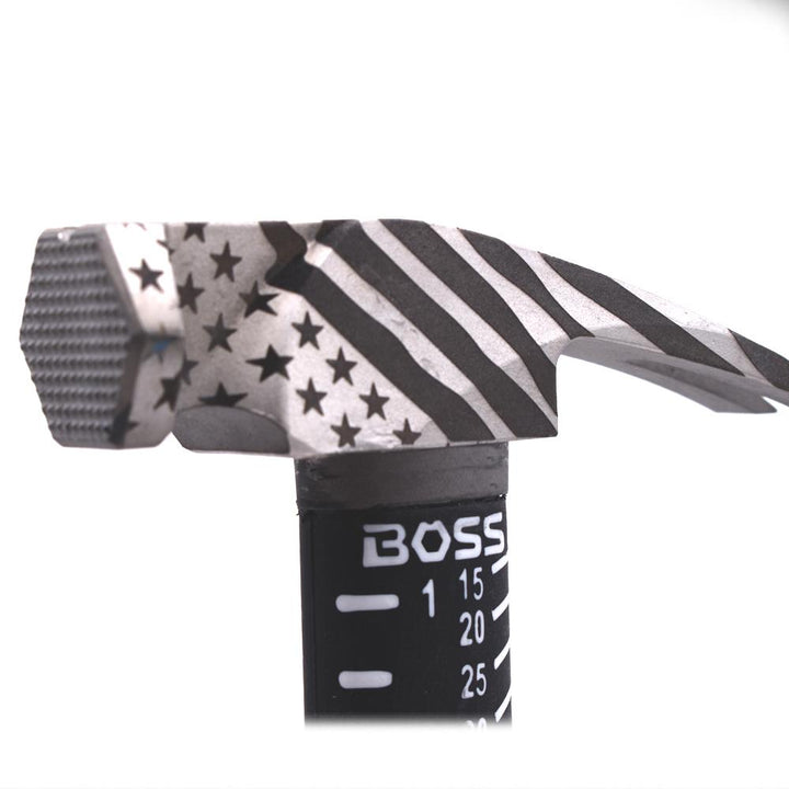 *AMERICAN FLAG CUSTOM* 12oz. Titanium Hybrid Hammer - Boss Hammer Co.