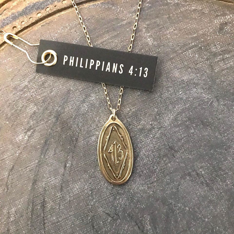 Philippians 4:13 Pendant Verse Necklace
