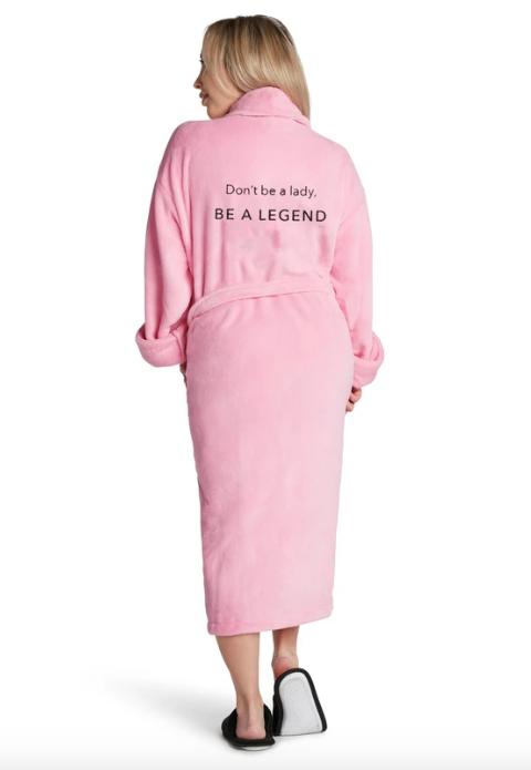 Luxe Plush Robe-Be A Legend