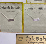 Skosh Bar Initial Necklace