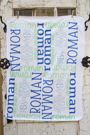 Baby Boy Name Blanket