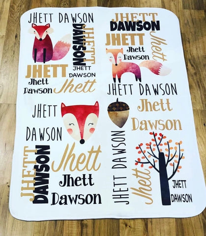 Fox Personalized Blanket