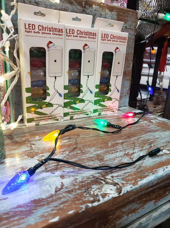 LED Christmas Bulb iPhone USB Charger