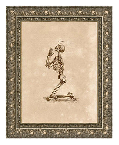 Human Skeleton in Prayer