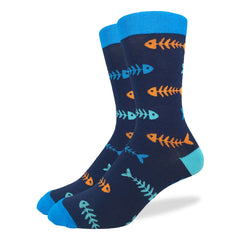 Men's Blue Fish Socks - Good Luck Sock