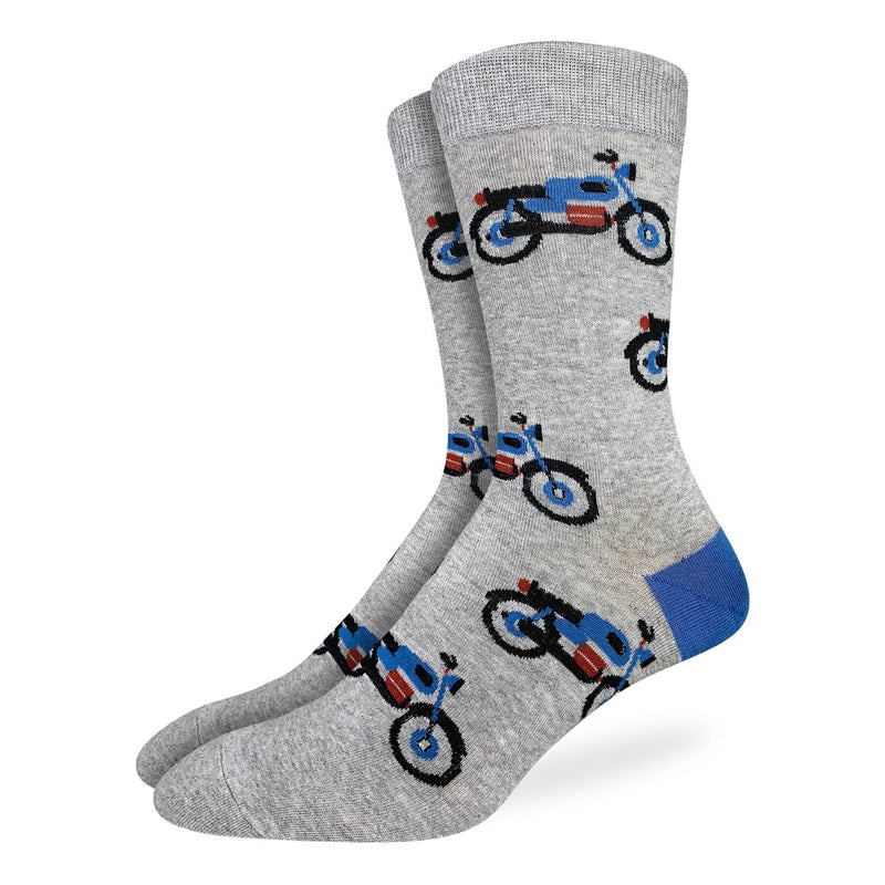 Men's Grey Motorcycle Socks