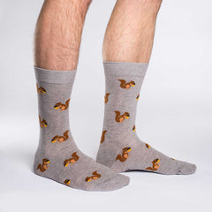 Men's King Size Squirrel Socks - Good Luck Sock
