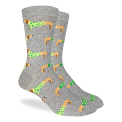 Men's Wiener Dog Socks - Good Luck Sock