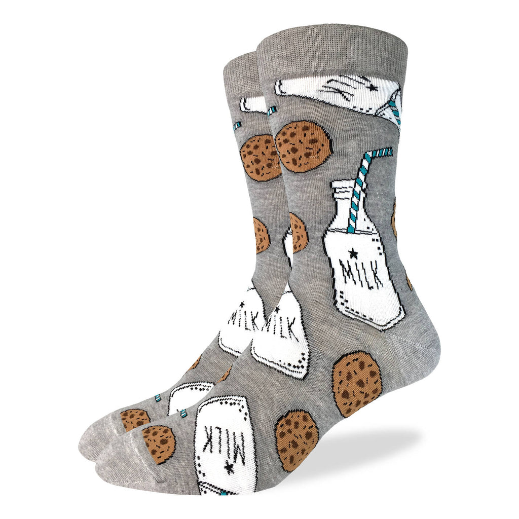 Men's King Size Milk & Cookies Socks