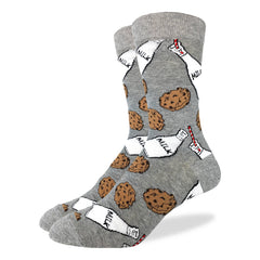 Men's Milk & Cookies Socks - Good Luck Sock
