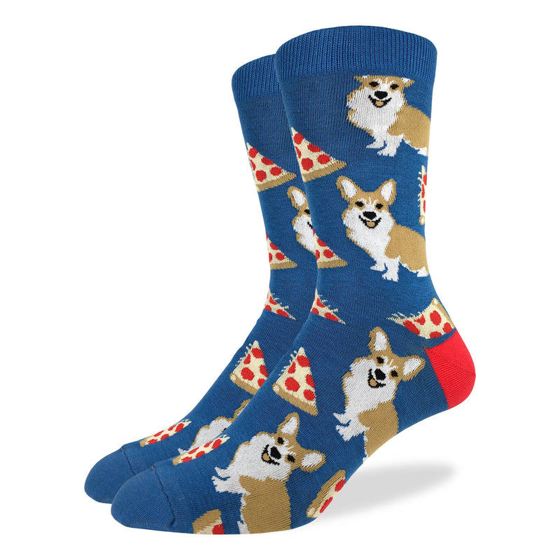 Men's Corgi Pizza Socks