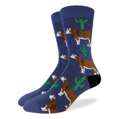 Men's Cactus Cow Socks - Good Luck Sock