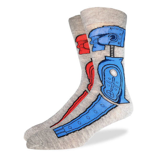 Men's Rock 'em Sock 'em Robot Socks