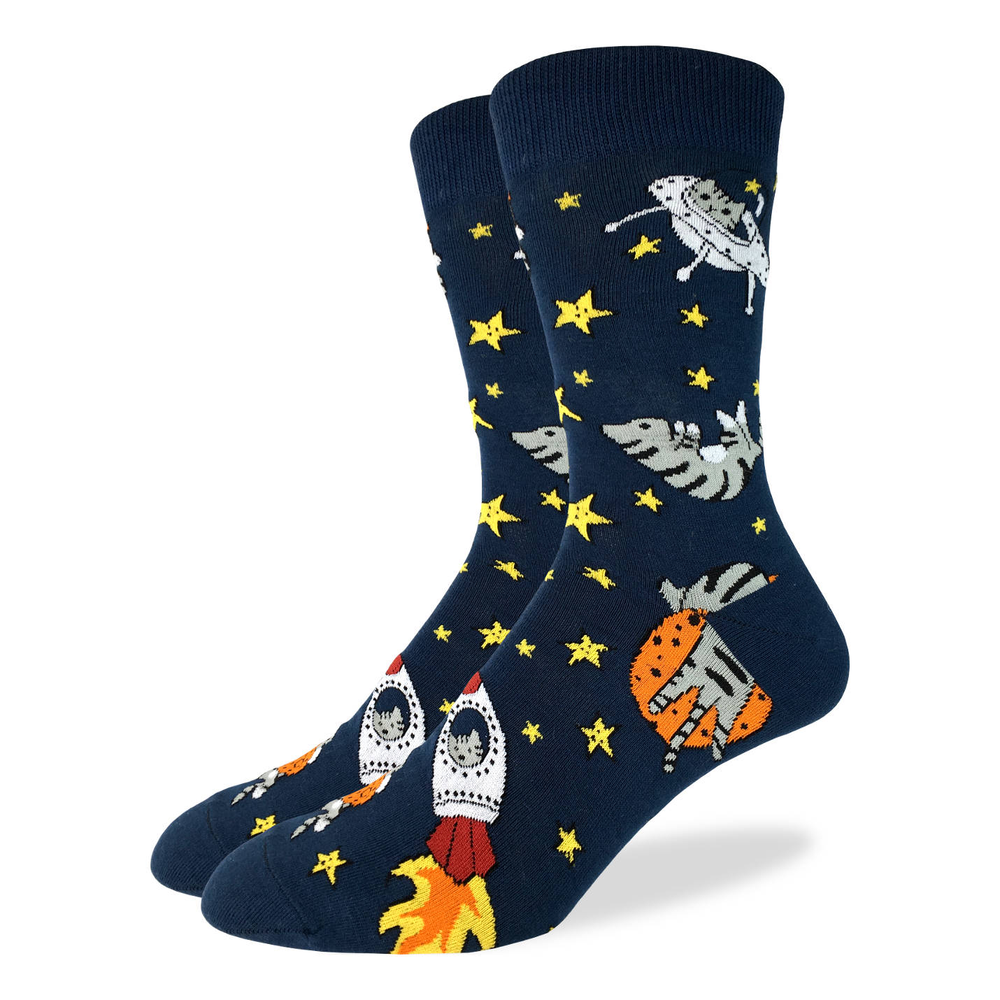 Men's Space Cat Socks - Good Luck Sock