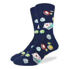 Men's Casino Socks - Good Luck Sock