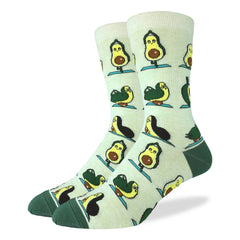 Men's Avocado Yoga Socks - Good Luck Sock