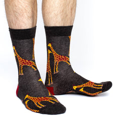 Men's Giraffes Socks - Good Luck Sock