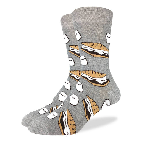 Men's Orange Moustache Socks