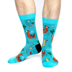 Men's Fun Llamas Socks - Good Luck Sock