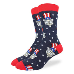 Men's Cool Uncle Sam Socks - Good Luck Sock