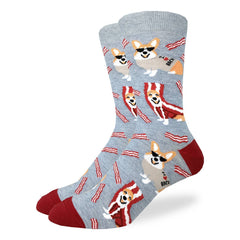 Men's Corgi Bacon Socks - Good Luck Sock