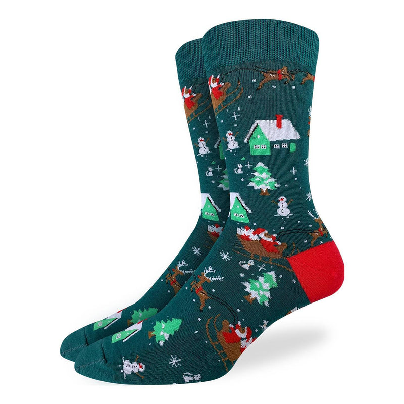Men's Santa on a Sled Socks