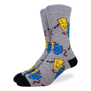 Men's Drama Masks Socks