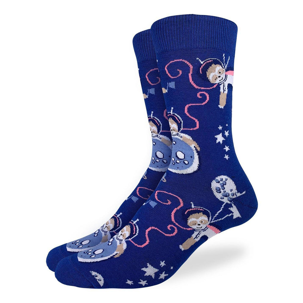 Men's King Size Space Sloth Socks