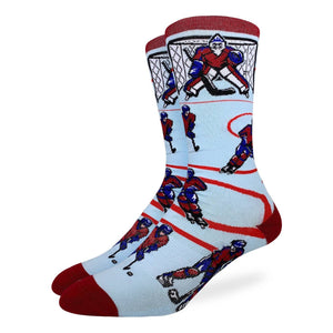 Men's Hockey, Red & Blue Socks