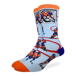 Men's Hockey, Orange & Blue Socks